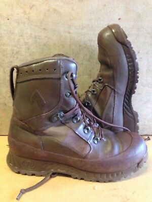 Size 10 genuine brown combat high liability haix boots!V/G and loads of tread!