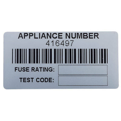 Martindale BAR1 Barcoded PAT Test Appliance Labels - Roll Of 500