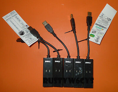 LOT OF 5 Dell Conexant RD02-D400 External Fax Modem Phone Line 56K USB NW147