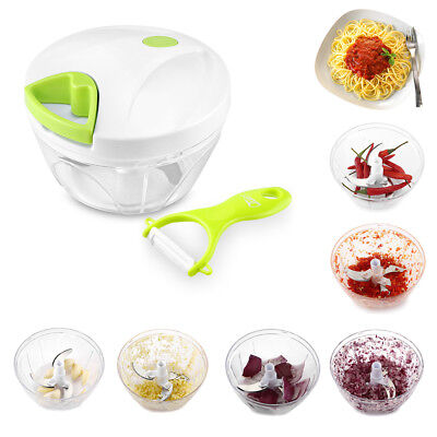 Kitchen Food Chopper Mixer Blender Cutter Cup Bowl Vegetable Onions Herb Salad