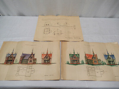 Antique German Architect's Plans Drawings Berlin 1906 / 1929