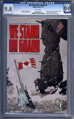 We Stand On Guard #1   Image Comics  Sold Out 1st Print     CGC 9.4