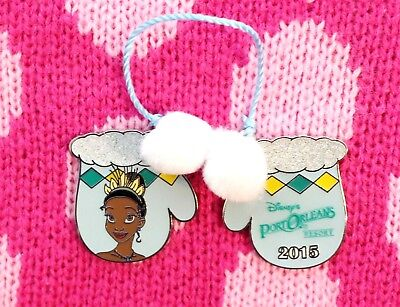 Disney Pin TIANA Port Orleans Resort Holiday Mittens LE 1200