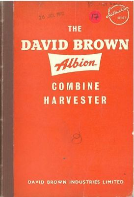 David Brown Albion Combine Harvester Instruction Book Operators Manual