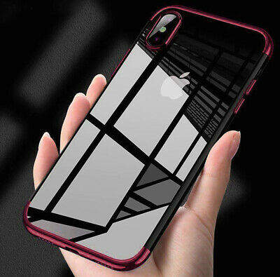 Ultra Slim Plating Silicone Soft Clear Case For Apple iPhone  X XS XR XS MAX
