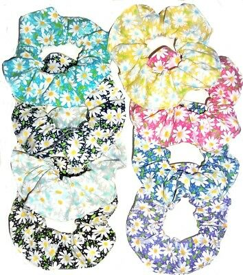 Hair Scrunchie Daisies Daisy Scrunchies by Sherry Ponytail Holder Ties New