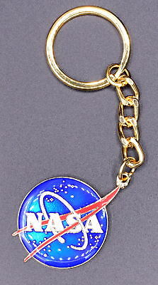 Nasa Logo keychain blue with gold accent