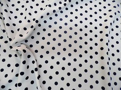 Printed Liverpool Textured  Stretch Fabric Small Polka Dot Neon Pink White G302
