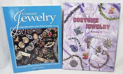 2 COSTUME JEWELRY Price Guide & Identification BOOKS Leshner Signed Beauties