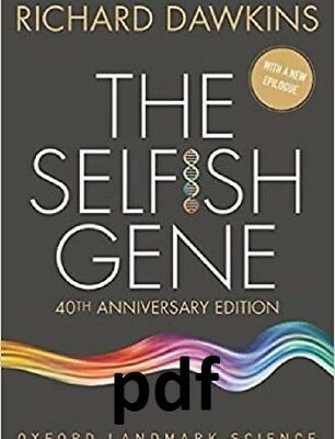 (PDF.EPUB) The Selfish Gene by Richard Dawkins EB00K !