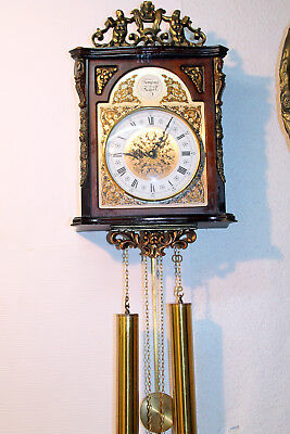 *Old Wall Clock Regulator 2 Weights Chime Clock*  *TEMPUS FUGIT*