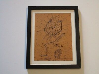 Brun Drawing 1970 Portrait Abstract Expressionism Cubism Surrealism Visionary