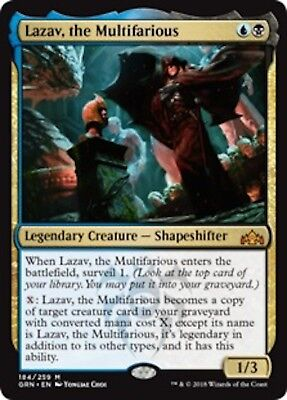 ***4x Lazav, the Multifarious*** MINT Guilds of Ravnica GRN MTG Magic Cards