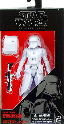 """Star Wars Black Series First Order Snowtrooper Actionfigure 6"""" Inch Hasbro (C)"""