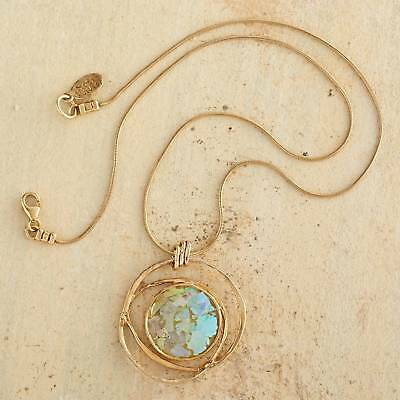 22k Gold Vermeil Necklace with Ancient Roman Glass Pendant NOVICA