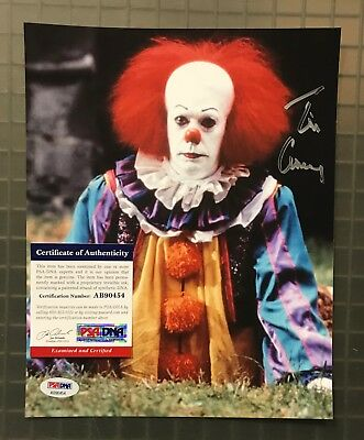 Tim Curry Signed 8x10 STEPHEN KING'S IT Pennywise Clown Photo AUTO PSA/DNA COA