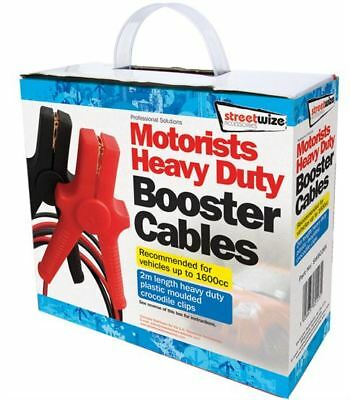 Streetwize Booster Cables - 150 Amp 2 Metre - Jump Leads - SWBC2BX & 9 LED Torch