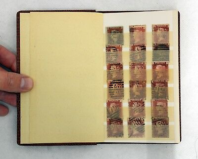 Collection of British Antique / Vintage Postage Stamps in Small Album. Penny Red