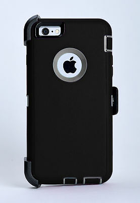 iPhone 6 Plus iPhone 6s Plus Case w/Belt Clip fits Otterbox Defender Black/Gray