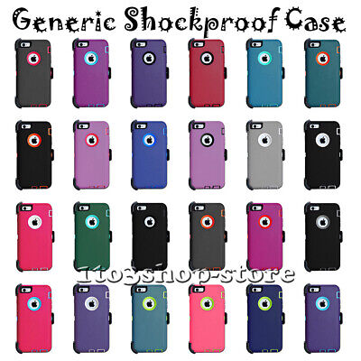 iPhone 6 6S 7 8 Plus X XS XS Max XR Shockproof Defender Case w/Holster Belt Clip