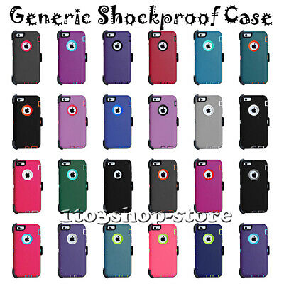 "iPhone 6 iPhone 6s 4.7"" Defender Shockproof Hard Shell Case w/Holster Belt Clip"