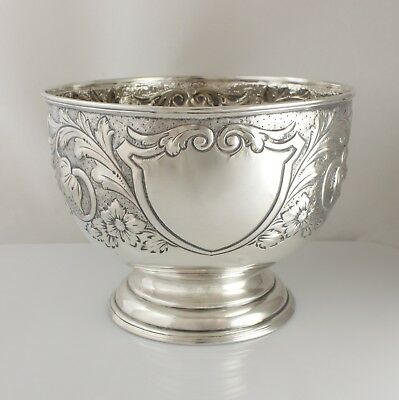 Antique Edwardian Solid Sterling Silver Pedestal Rose Bowl 276g Hallmarked 1901