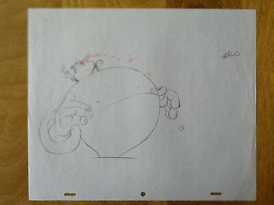 Walt Disney TV Animation Art Cel Production Drawing ALADDIN GENIE