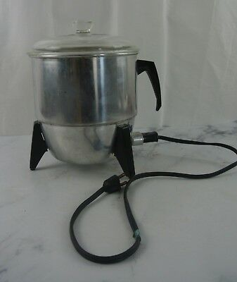 Vintage Mirro Aluminum Electric Popcorn Popper Model #9221, Made In the USA