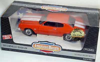 ERTL 1:18 1970 Chevy Chevelle SS 454 LS6 ORANGE 7147 American Muscle SEALED '70