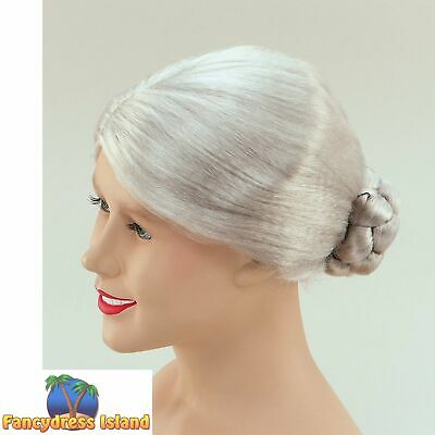 GREY OLD WOMAN GRANNY PENSIONER WIG Ladies Womens Fancy Dress Costume