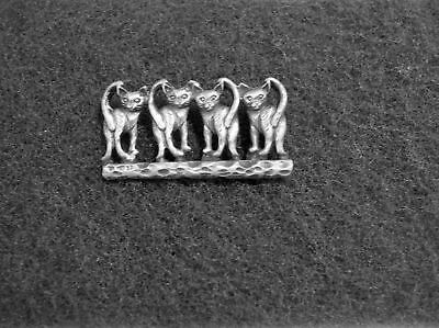 PET ANIMAL 2 HIS & HERS KITTY CAT PEWTER PINS ALL New Made In U.S.A.