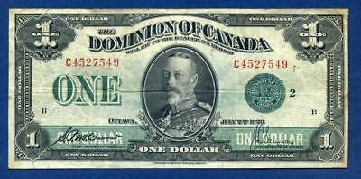 1923 The Dominion of Canada One Dollar-Green Seal, Group 2, Series C