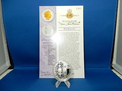 2002 New Zealand Royal Sceptre $5 Proof Silver Coin