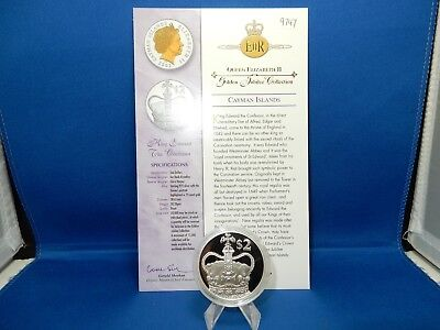 2002 Cayman Islands King Edward The Confessor $2 Proof Silver Coin