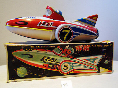 Rocket Racer MF-742,Friktion, Knatterton, Blech, 32 cm, China, OVP