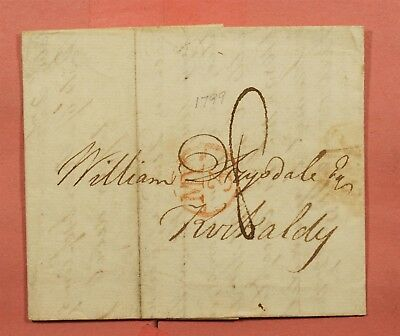 1799 Scotland Stampless F/l Edinburgh To Kirkcaldy