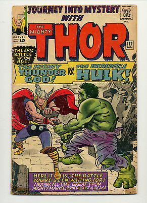 Journey Into Mystery With Thor #112 (1965 Marvel) 1St Hulk Vs Thor Stan Lee