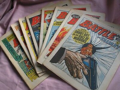 Eight Battle And Valiant Picture Weekly Comics - 1976
