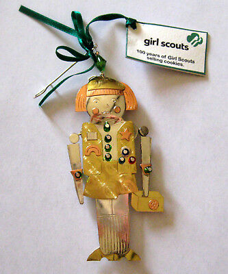 Girl Scout NUTCRACKER CHRISTMAS ORNAMENT Copper Holiday Tree Decoration GIFT