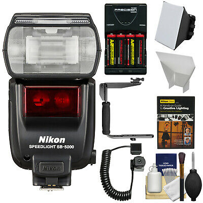 Nikon SB-5000 AF Speedlight Flash with Bracket & Cord Bundle