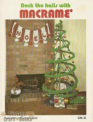 Deck the Halls with Macrame Vintage Instruction Book Wreath Angel Ornaments NEW