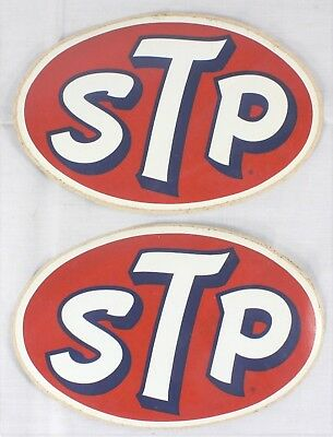 "Vintage STP Racing Decal/Sticker 8"" - Lot of 2"