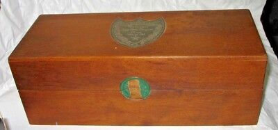 Champagne 1982 Cuvee Dom Perignon Rose Wood Gift Box Moet Chandon Epernay