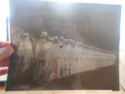 Vintage Large Negative Of Possibly Civil War  Or Ww Platton Of Soldiers In Drill