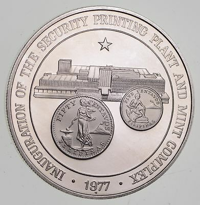 Roughly Size of Silver Dollar - 1977 Philippines 50 Piso Silver Coin 27.8g *310