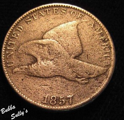 1857 Flying Eagle Cent <> VG to F Details