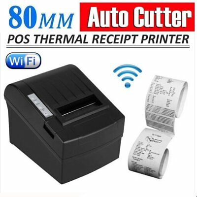 Wireless WIFI POS Thermal Receipt Printer 80mm Auto Cutter/USB+WIFIkiosk Lot JC