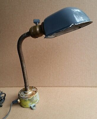 Vintage Industrial Table Lamp Made From Russell & Stoll Marine Boat Light Switch