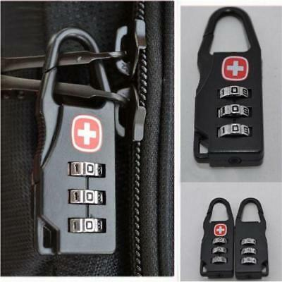 Safe Mini 3 Digit Combination Suitcase Luggage Metal Code Password Lock Padlock