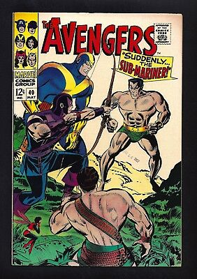 Avengers #40  Very Fine Near Mint 9.0!  Awesome Copy!  Bright White Cover!  1967